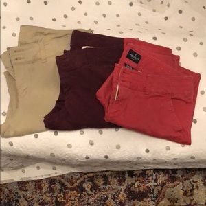 Lot of 3 American Eagle chinos used